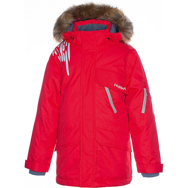 Купить Утеплённая куртка Huppa Marten 1, Эстония, красный, 116, 146, 158/164, 170/176, 164/170, 134, 152, 122, 140, 128, 176, 182, Мужской