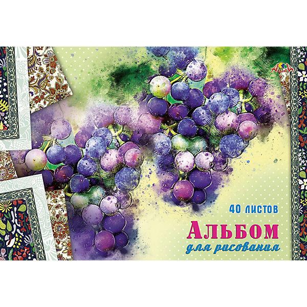 АппликА Альбом для рисования Апплика Виноград, 40 листов апплика альбом для рисования апплика зарисовка 24 листа