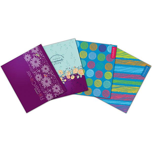 АппликА Комплект тетрадей Апплика Цветной дизайн 5 шт, клетка, 48 листов