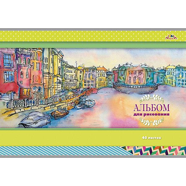 АппликА Альбом для рисования Апплика Город на реке, 40 листов апплика альбом для рисования апплика зарисовка 24 листа