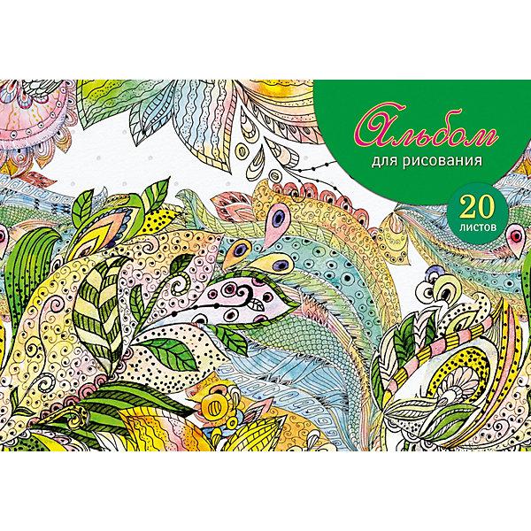 АппликА Альбом для рисования Апплика Цветочный узор, 20 листов