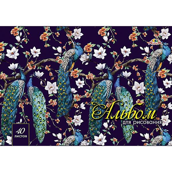 АппликА Альбом для рисования Апплика Павлины, 40 листов