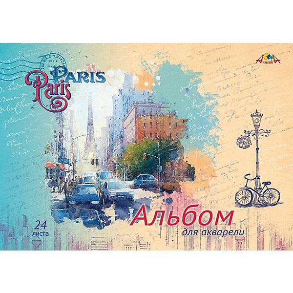 АппликА Альбом для акварели Апплика Париж, 24 листа апплика альбом для рисования апплика зарисовка 24 листа
