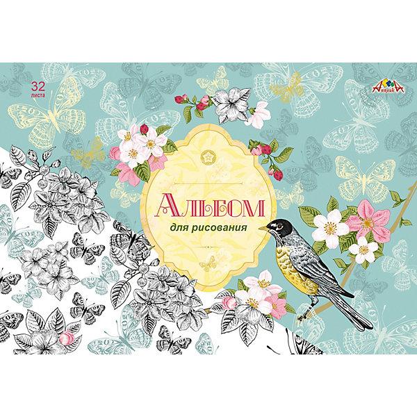 АппликА Альбом для рисования Апплика Весенние цветы, 32 листа апплика альбом для рисования апплика зарисовка 24 листа