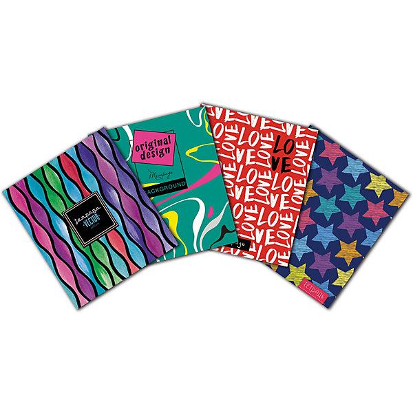 АппликА Комплект тетрадей Апплика Цветные разводы 5 шт, клетка, 48 листов