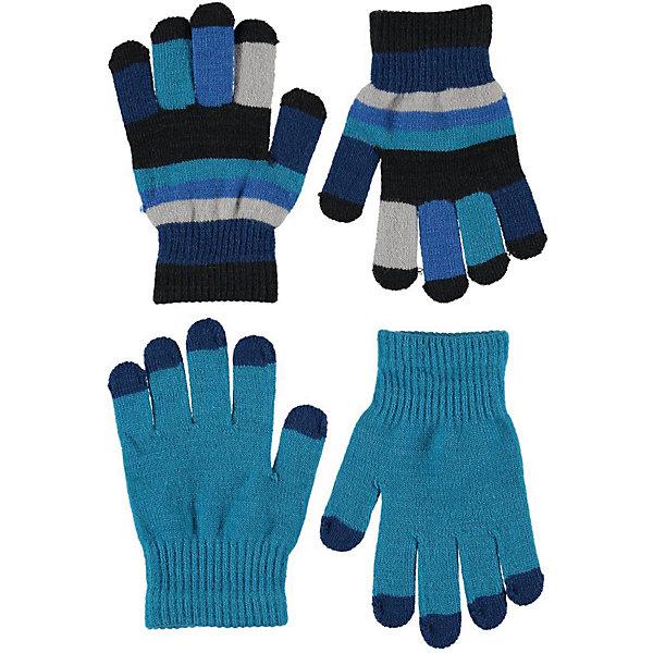 Купить Перчатки Molo, 2 пары, Китай, синий, Мужской