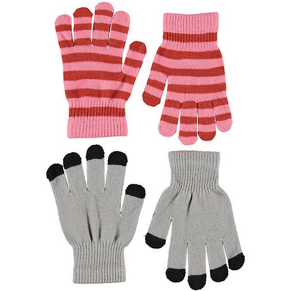 Купить Перчатки Molo, 2 пары, Китай, серый, Женский
