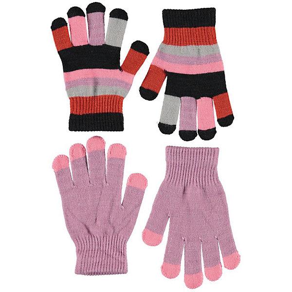Купить Перчатки Molo, 2 пары, Китай, разноцветный, Женский