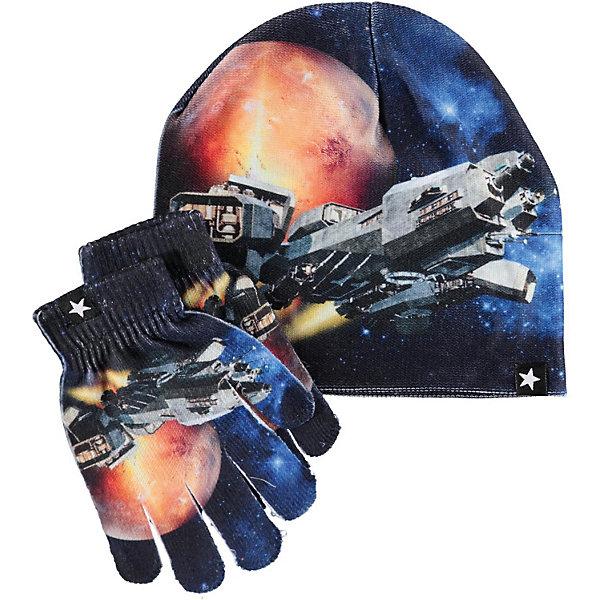 Купить Комплект Molo: шапка и перчатки, Китай, разноцветный, 52-54, 46-50, Мужской