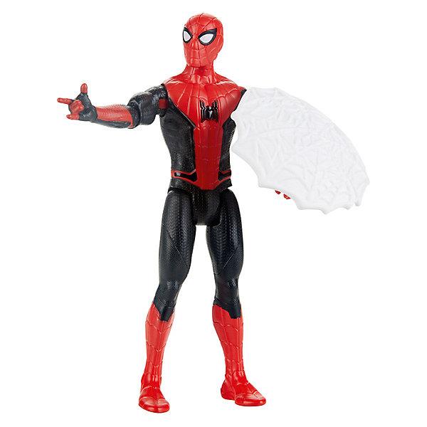 цена Hasbro Игровая фигурка Spider-Man Человек-Паук с паутинным щитом, 15 см онлайн в 2017 году