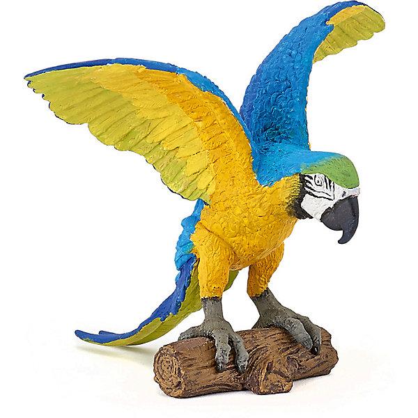 Купить Игровая фигурка PaPo Голубой попугай Ара, Китай, Унисекс
