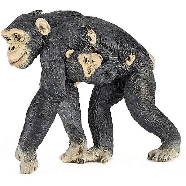 Купить Игровая фигурка PaPo Шимпанзе с детенышем, Китай, Унисекс