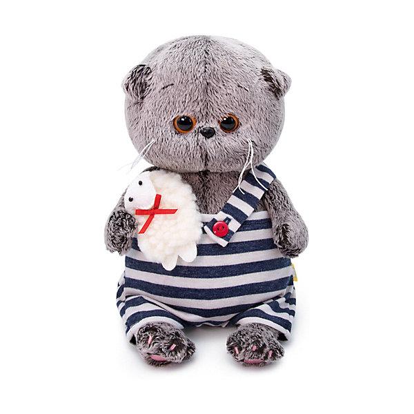 Купить Мягкая игрушка Budi Basa Кот Басик Baby с овечкой, 20 см, Россия, коричневый, Унисекс