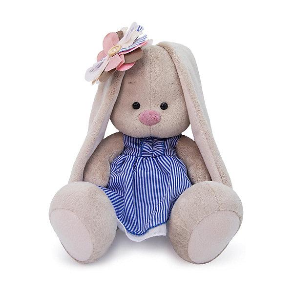 Купить Мягкая игрушка Budi Basa Зайка Ми с полосатым цветком, 18 см, Россия, бежевый, Унисекс