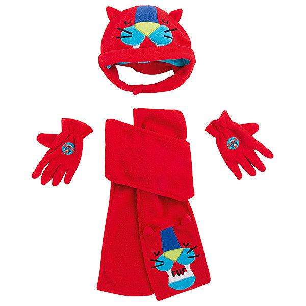 Комплект Tuc-Tuc: шапка, шарф и перчатки Tuc Tuc красный  12354692