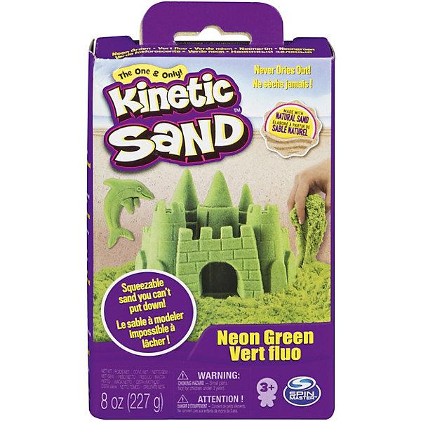 Kinetic sand Игровой набор Kinetic Sand Кинетический песок, зеленый kinetic sand 71417 const кинетик сэнд игровой набор c формочками 285 г