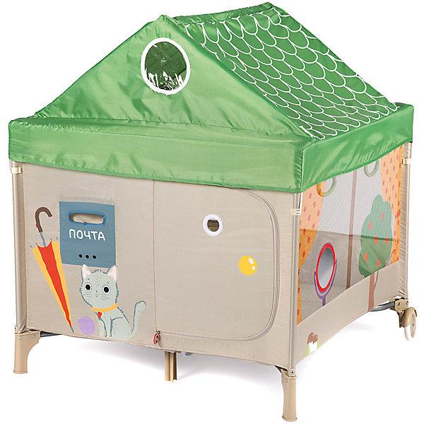 Happy Baby Манеж Happy Baby Alex Home бежево-зелёный манеж baby care arena бежево корчнвый ob 888
