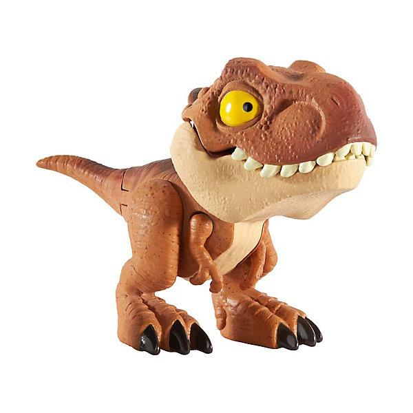 Купить Фигурка Jurassic World Цепляющийся мини-динозаврик Тираннозавр Рекс коричневый, Mattel, Китай, разноцветный, Мужской
