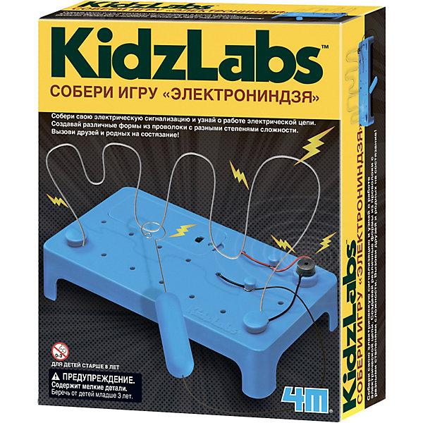 4M Набор для конструирования KidzLabs Собери игру ЭлектроНиндзя