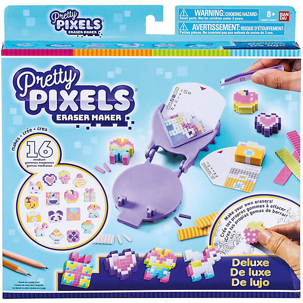 BANDAI Набор для создания ластиков Pretty Pixels Eraser Maker Много друзей не бывает!