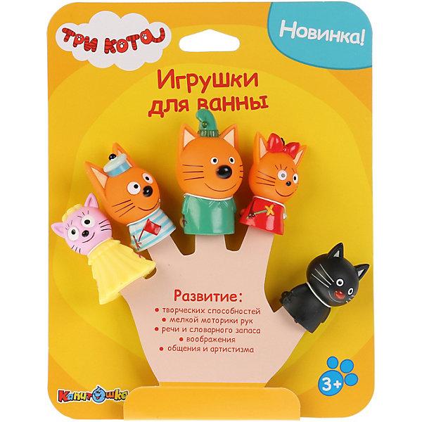 - Игрушка для ванны Капитошка Три кота, 5 штук