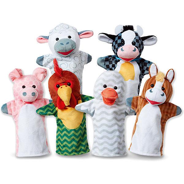 Melissa & Doug Мягкая игрушка Melissa&Doug Плюшевые куклы на руку Животные с фермы