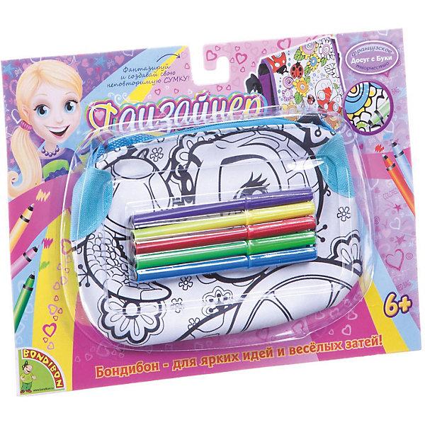 заготовки под роспись bondibon сумка для раскрашивания для планшета Bondibon Сумка для раскрашивания Bondibon Черепаха