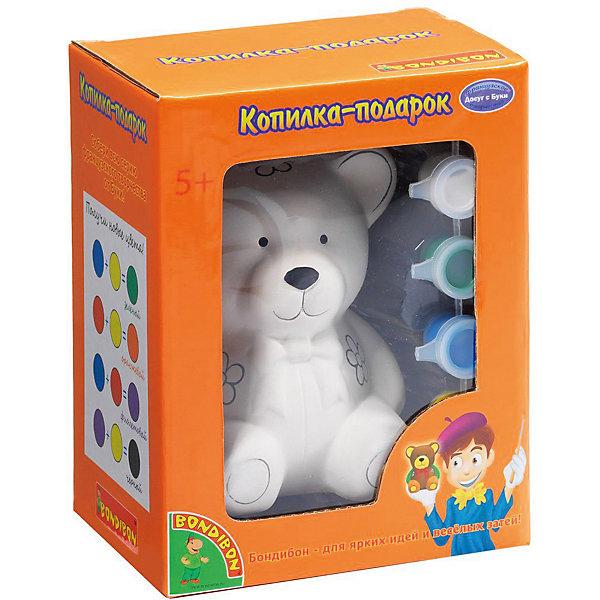 Bondibon Набор для творчества Копилка-подарок: мишка