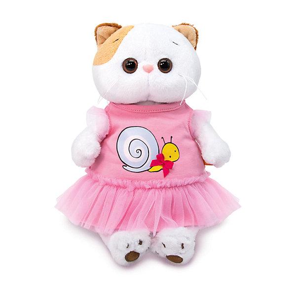 Мягкая игрушка Budi Basa Кошечка Ли-Ли в платье с принтом Улитка, 24 см 12408928