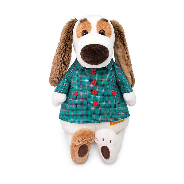 Мягкая игрушка Budi Basa Собака Бартоломей в рубашке, 27 см 12408942