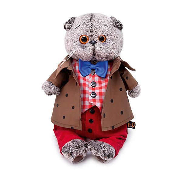 Мягкая игрушка Budi Basa Кот Басик в костюме с бантом, 19 см 12408946