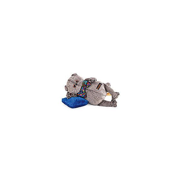 Budi Basa Мягкая игрушка Budi Basa Кот Басик в разноцветном банте и с подушкой, 26 см budibasa кот басик с подушкой и мышкой