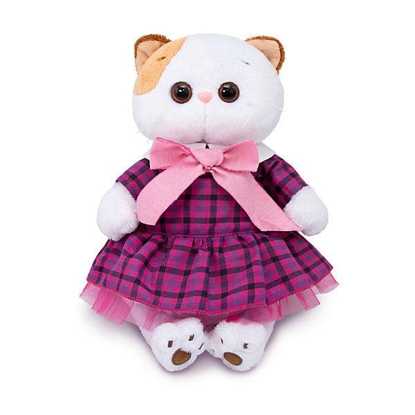 Мягкая игрушка Budi Basa Кошечка Ли-Ли в платье клетку, 24 см 12408956