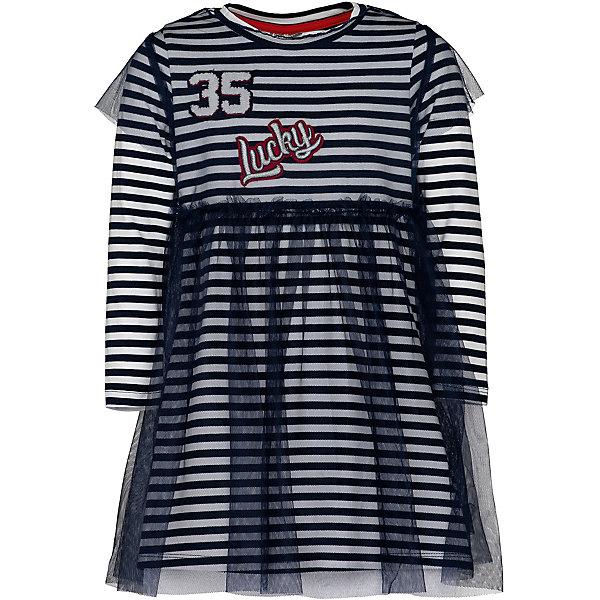 Gulliver Комплект: верхнее платье и нижнее платье Gulliver трикотажное платье с ажурным рисунком vilatte платья и сарафаны в полоску