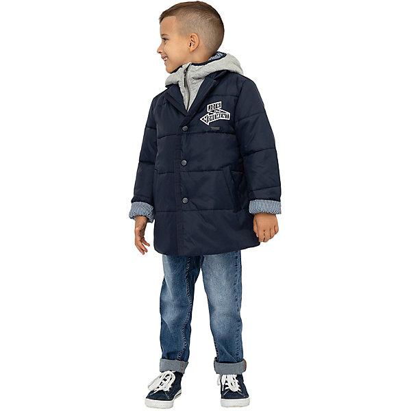 Купить Демисезонная куртка Gulliver, Китай, темно-синий, 104, 98, 122, 128, 110, 116, Мужской