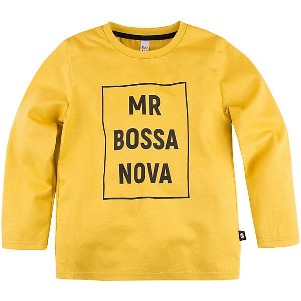 Купить Лонгслив Bossa Nova, Россия, желтый, 128, 104, 116, 134, 110, 122, Мужской