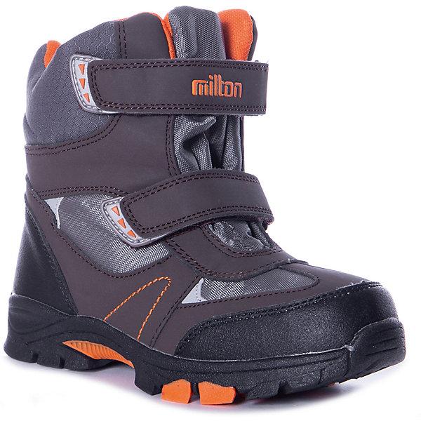 Купить Утепленные ботинки Milton, Россия, серый, 32, 35, 33, 34, 36, 31, Мужской