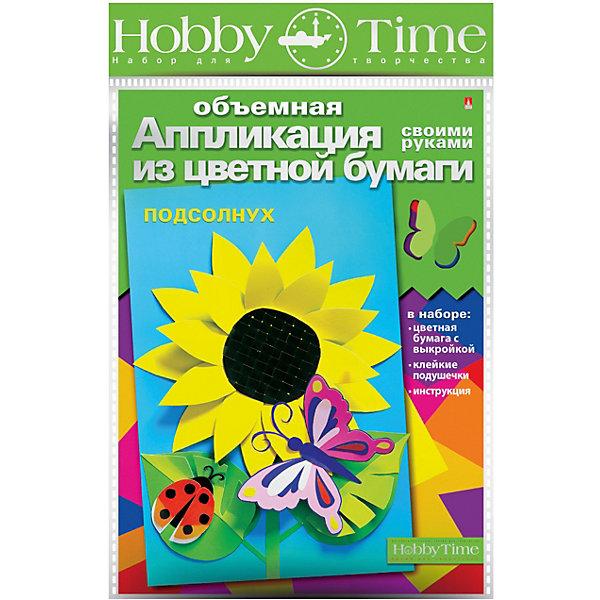 Купить Объемная аппликация HOBBY TIME Подсолнух из цветной бумаги, Россия, Унисекс