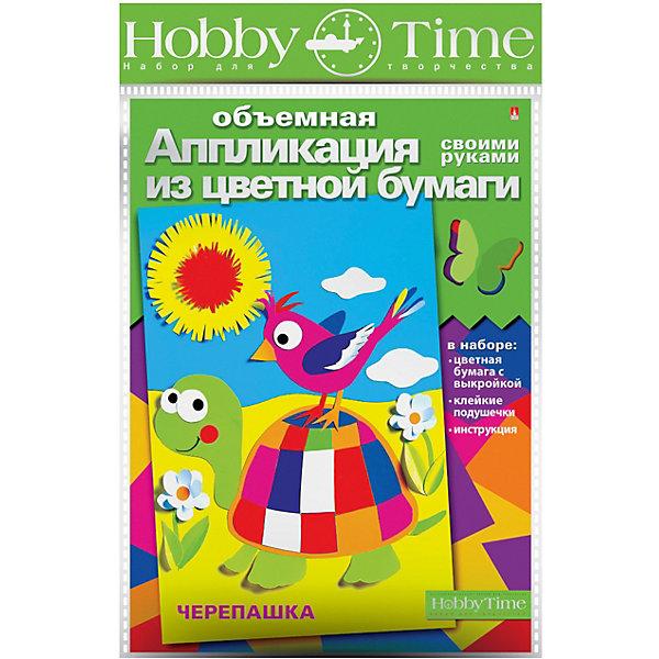 hobby time Объемная аппликация HOBBY TIME Веселая черепаха из цветной бумаги