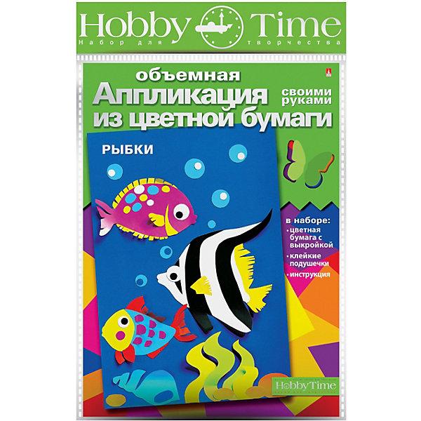 hobby time Объемная аппликация HOBBY TIME Рыбки из цветной бумаги