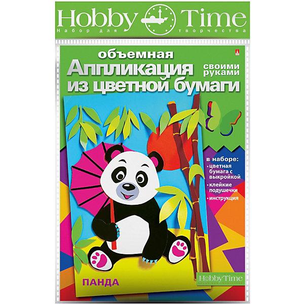 hobby time Объемная аппликация HOBBY TIME Панда из цветной бумаги
