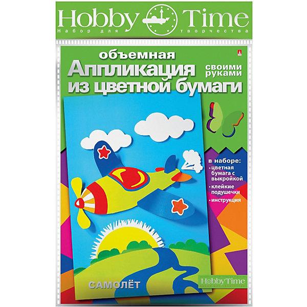 hobby time Объемная аппликация HOBBY TIME Самолет из цветной бумаги