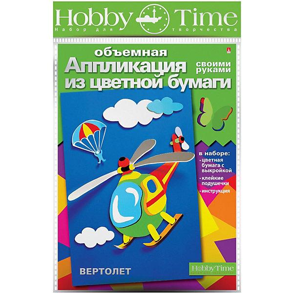 hobby time Объемная аппликация HOBBY TIME Вертолет из цветной бумаги