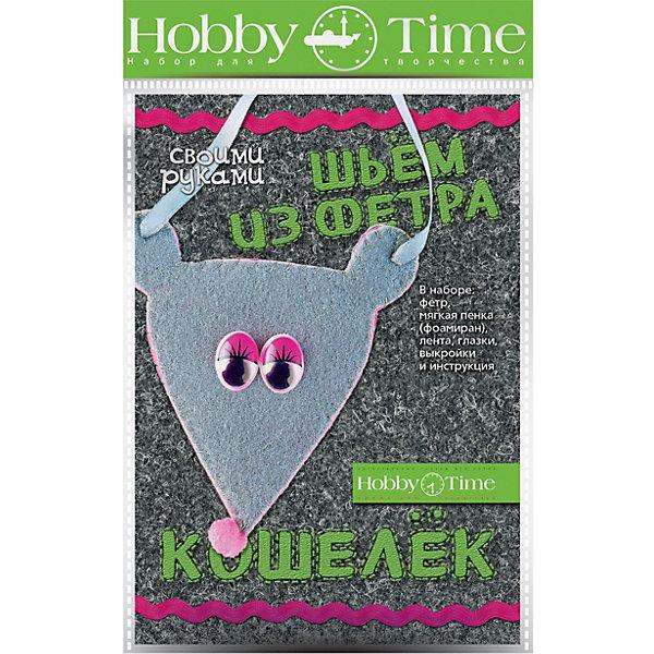 hobby time Набор для творчества HOBBY TIME Шьем из фетра. Кошелек своими руками. Мышонок набор для творчества фабрика фантазий шьем из фетра котик 86593
