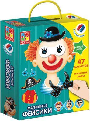 Vladi Toys Магнитная игра Vladi toys Фэйсики vladi toys игра для самых маленьких зверобус с мешочком