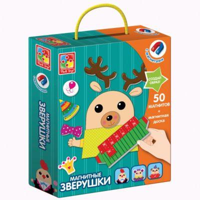 Vladi Toys Магнитная игра Vladi toys Зверушки vladi toys игра для самых маленьких зверобус с мешочком