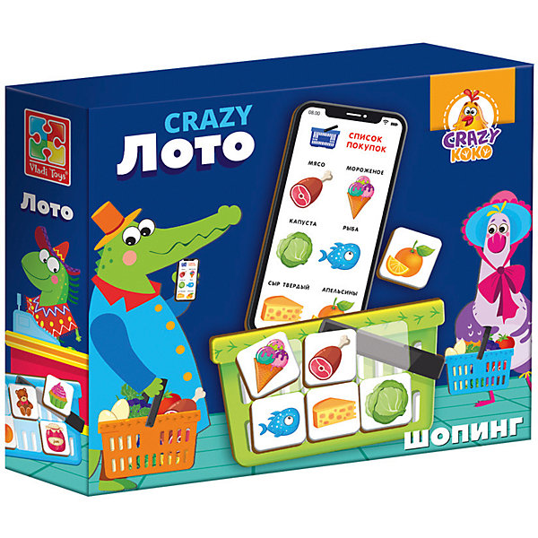 Vladi Toys Настольная игра toys Crazy Лото