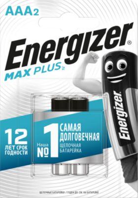 Фото - Energizer Батарейки алкалиновые Energizer Max Plus, тип ААА, 2 шт батарейки sonnen alkaline d lr20 13а алкалиновые комплект 2 шт в блистере 451091