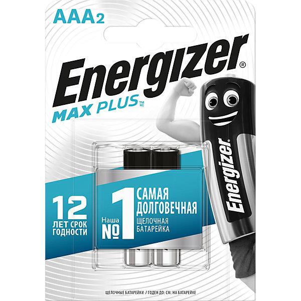 Energizer Батарейки алкалиновые Max Plus, тип ААА, 2 шт