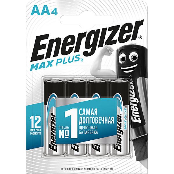 Energizer Батарейки алкалиновые Max Plus, тип АА/LR6, 1,5 V, 4 шт